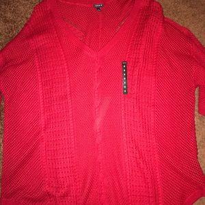 Torrid brand RED sweater 3/4 sleeve